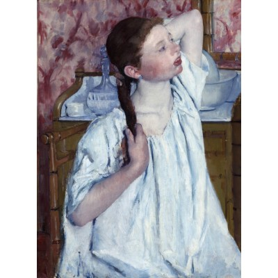 Puzzle  Grafika-01928 Mary Cassatt: Girl Arranging Her Hair, 1886
