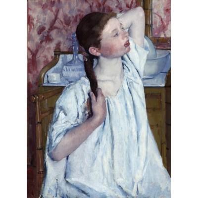 Puzzle  Grafika-01930 Mary Cassatt: Girl Arranging Her Hair, 1886
