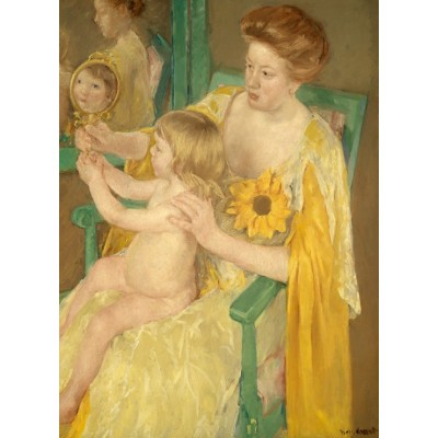 Puzzle  Grafika-01936 Mary Cassatt: Mother and Child, 1905