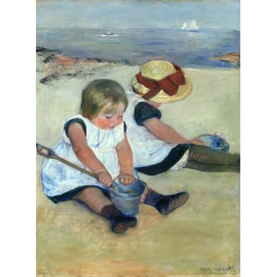 Puzzle  Grafika-01937 Mary Cassatt: Children Playing on the Beach, 1884