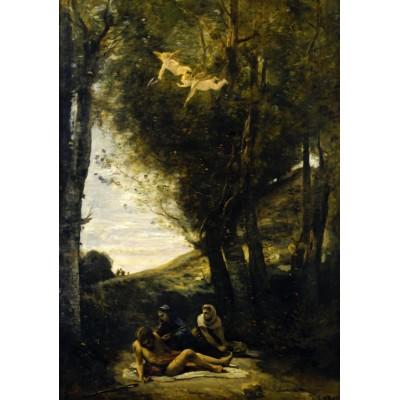 Puzzle  Grafika-01943 Jean-Baptiste-Camille Corot: Saint Sebastian Succored by the Holy Women, 1874