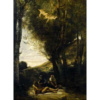 Puzzle  Grafika-01944 Jean-Baptiste-Camille Corot: Saint Sebastian Succored by the Holy Women, 1874