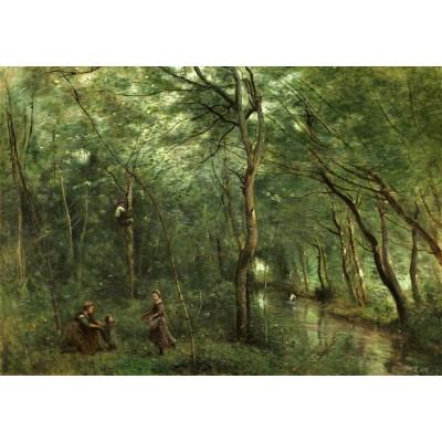 Puzzle  Grafika-01946 Jean-Baptiste-Camille Corot: The Eel Gatherers, 1860-1865