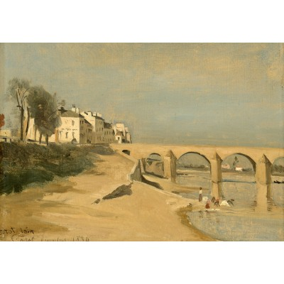 Puzzle  Grafika-01952 Jean-Baptiste-Camille Corot: Bridge on the Saône River at Mâcon, 1834