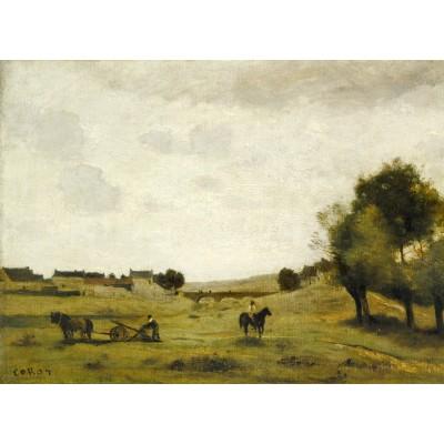 Puzzle  Grafika-01955 Jean-Baptiste-Camille Corot: View near Epernon, 1850-1860