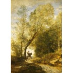 Puzzle  Grafika-01957 Jean-Baptiste-Camille Corot: The Forest of Coubron, 1872