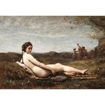 Puzzle  Grafika-01963 Jean-Baptiste-Camille Corot: Repose, 1860