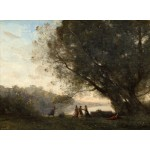Puzzle  Grafika-01965 Jean-Baptiste-Camille Corot: Dance under the Trees at the Edge of the Lake, 1865-1870