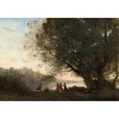 Puzzle  Grafika-01966 Jean-Baptiste-Camille Corot: Dance under the Trees at the Edge of the Lake, 1865-1870