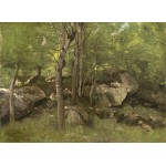 Puzzle  Grafika-01973 Jean-Baptiste-Camille Corot: Rocks in the Forest of Fontainebleau, 1860-1865