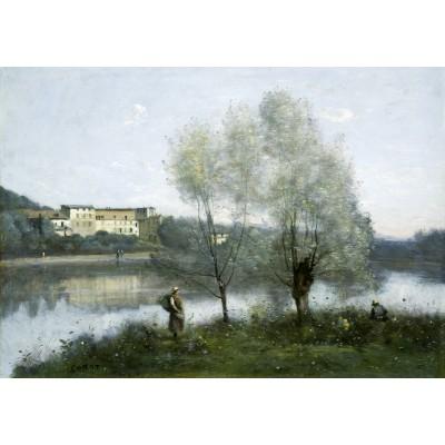 Puzzle  Grafika-01974 Jean-Baptiste-Camille Corot: Ville-d'Avray, 1865