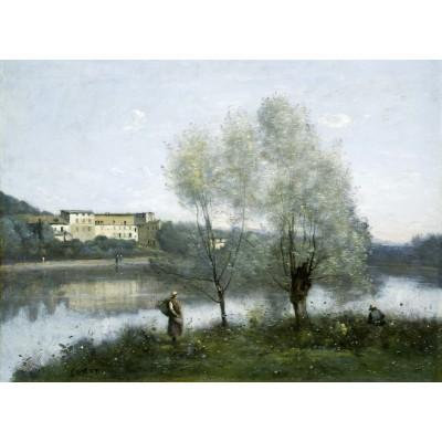 Puzzle  Grafika-01975 Jean-Baptiste-Camille Corot: Ville-d'Avray, 1865