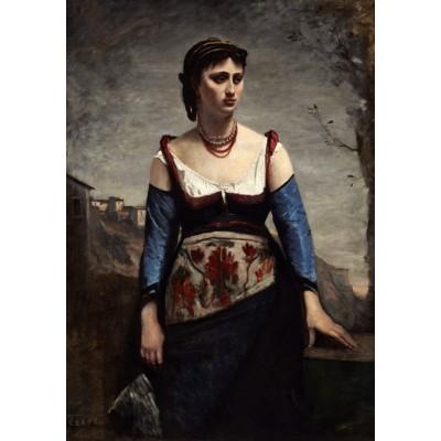 Puzzle  Grafika-01980 Jean-Baptiste-Camille Corot : Agostina, 1866