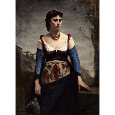 Puzzle  Grafika-01981 Jean-Baptiste-Camille Corot : Agostina, 1866