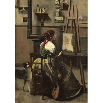 Puzzle  Grafika-01983 Jean-Baptiste-Camille Corot: The Artist's Studio, 1868