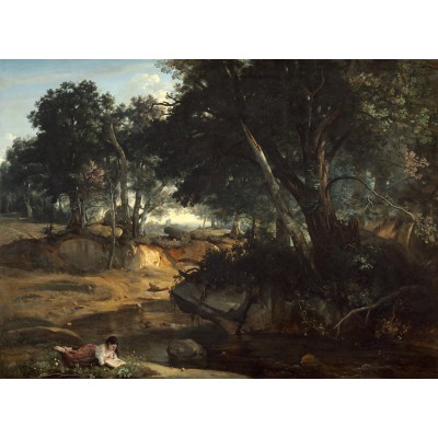 Puzzle  Grafika-01987 Jean-Baptiste-Camille Corot: Forest of Fontainebleau, 1834