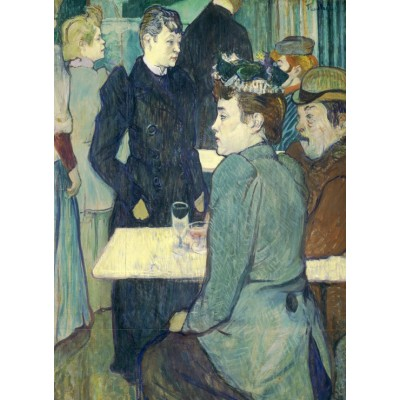 Puzzle  Grafika-01990 Henri de Toulouse-Lautrec: A Corner of the Moulin de la Galette, 1892