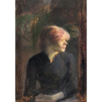Puzzle  Grafika-01998 Henri de Toulouse-Lautrec: Carmen Gaudin, 1885