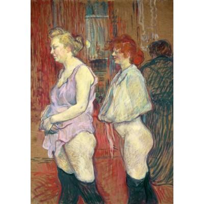 Puzzle  Grafika-02007 Henri de Toulouse-Lautrec: Rue des Moulins, 1894