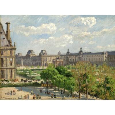 Puzzle  Grafika-02012 Camille Pissarro: Place du Carrousel, Paris, 1900