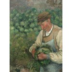 Puzzle  Grafika-02021 Camille Pissarro: The Gardener - Old Peasant with Cabbage, 1883-1895