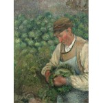 Puzzle  Grafika-02023 Camille Pissarro: The Gardener - Old Peasant with Cabbage, 1883-1895