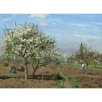 Puzzle  Grafika-02029 Camille Pissarro : Orchard in Bloom, Louveciennes, 1872