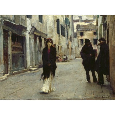 Puzzle  Grafika-02078 John Singer Sargent: Street in Venice, 1882