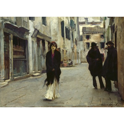 Puzzle  Grafika-02080 John Singer Sargent: Street in Venice, 1882