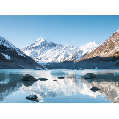 Puzzle  Grafika-02084 Aoraki Mount Cook Nationalpark, Neuseeland