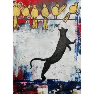 Puzzle  Grafika-02096 Katzenspiele