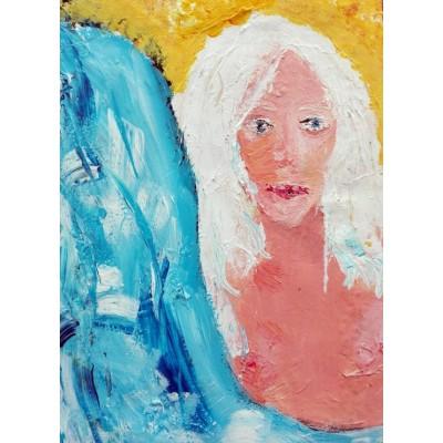 Puzzle  Grafika-02106 Mädchen mit weißem Haar