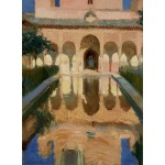 Puzzle  Grafika-02110 Joaquin Sorolla y Bastida: Hall of the Ambassadors, Alhambra, Granada, 1909