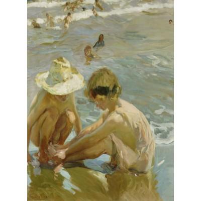 Puzzle  Grafika-02115 Joaquin Sorolla y Bastida: The Wounded Foot, 1909