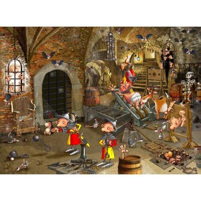 Puzzle  Grafika-02129 François Ruyer: Dungeon