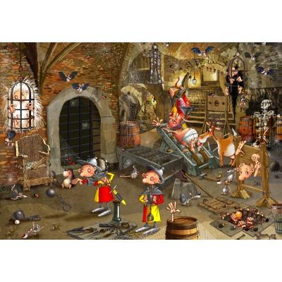 Puzzle  Grafika-02130 François Ruyer: Dungeon