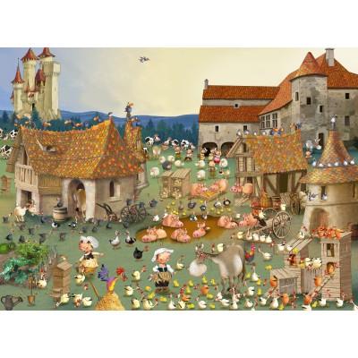 Puzzle  Grafika-02155 François Ruyer - Bauernhof