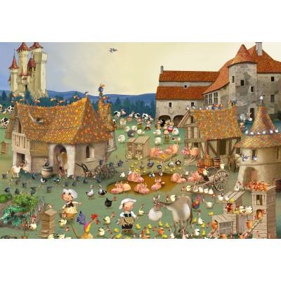 Puzzle  Grafika-02156 François Ruyer - Bauernhof