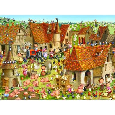 Puzzle  Grafika-02159 François Ruyer - Bauernhof
