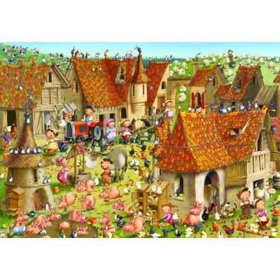Puzzle Grafika-02160 François Ruyer - Bauernhof