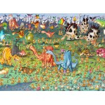 Puzzle  Grafika-02161 François Ruyer - Dinosaurier