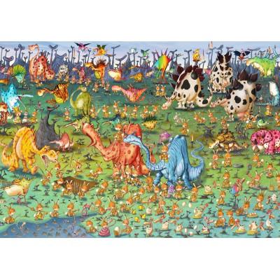 Puzzle Grafika-02162 François Ruyer - Dinosaurier
