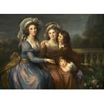 Puzzle  Grafika-02171 Louise-Élisabeth Vigee le Brun: The Marquise de Pezay, and the Marquise de Rougé with Her Sons Alexi