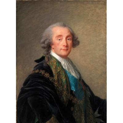 Puzzle  Grafika-02174 Élisabeth-Louise Vigee le Brun: Alexandre Charles Emmanuel de Crussol-Florensac, 1787