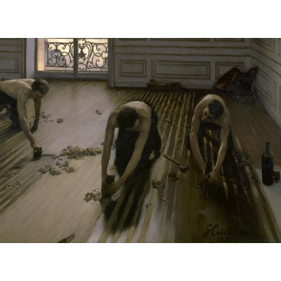 Puzzle  Grafika-02219 Gustave Caillebotte: The Floor Planers, 1875