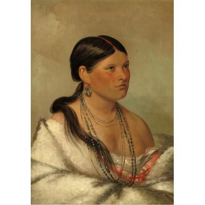 Puzzle  Grafika-02233 George Catlin: The Female Eagle - Shawano, 1830