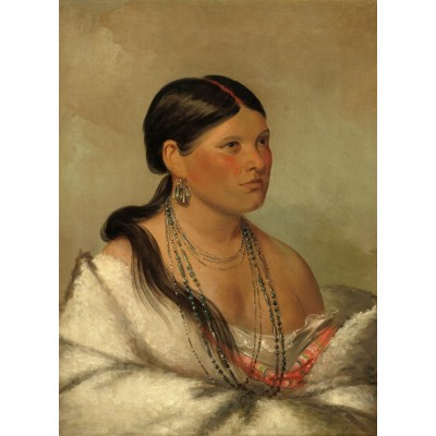 Puzzle Grafika-02234 George Catlin: The Female Eagle - Shawano, 1830