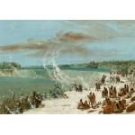 Puzzle  Grafika-02245 George Catlin: Portage Around the Falls of Niagara at Table Rock, 1847-1848
