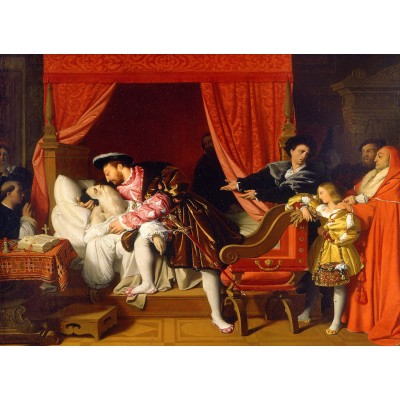 Puzzle  Grafika-02252 Jean-Auguste-Dominique Ingres: François Ierreceives the last sighs of Léonardo da Vinci, 1818