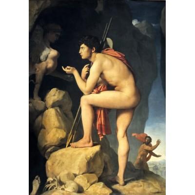 Puzzle  Grafika-02257 Jean-Auguste-Dominique Ingres: Oedipus explains the riddle of the sphinx, 1808